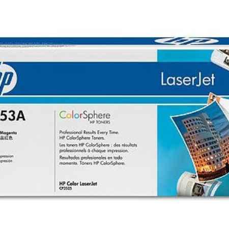 Купить HP для принтеров CP3525dn/CP3525n/CP3525x и многофункциональных устройств CM3530/CM3530fs пурпурного цвета 7000 страниц