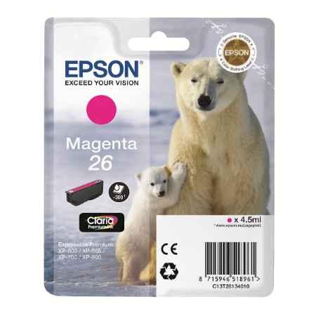 Купить Epson ДЛЯ EXPRESSION XP-600/605/700/800 C13T26134010 пурпурного цвета 300 страниц