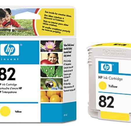 Купить HP для принтеров DesingJet 10ps/20ps/50ps/120/120nr/500/800 82Y желтого цвета