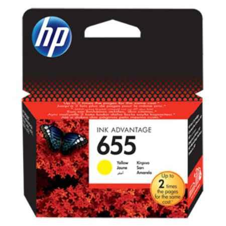 Купить HP для принтеров Deskjet Ink Advantage 3525, 4615, 4625, 5525, 6525 655 желтого цвета 600 страниц