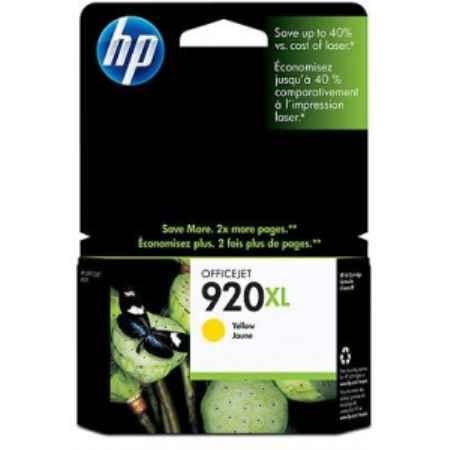 Купить HP для принтеров Officejet Pro 6000 / 6500 920XL желтого цвета 700 страниц