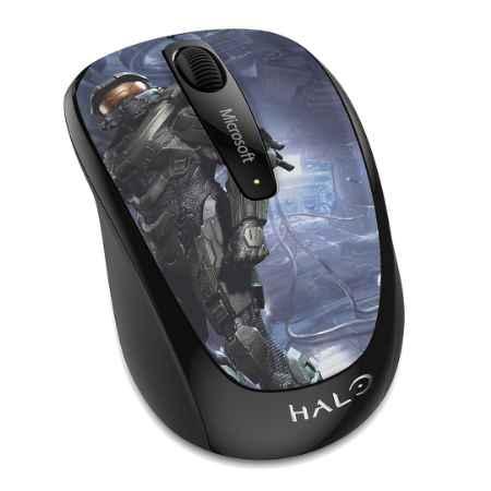Купить Microsoft Wireless Mobile Mouse 3500 Halo Master Chief Limited Edition с рисунком/черный