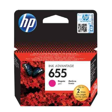 Купить HP для принтеров Deskjet Ink Advantage 3525, 4615, 4625, 5525, 6525 655 пурпурного цвета 600 страниц