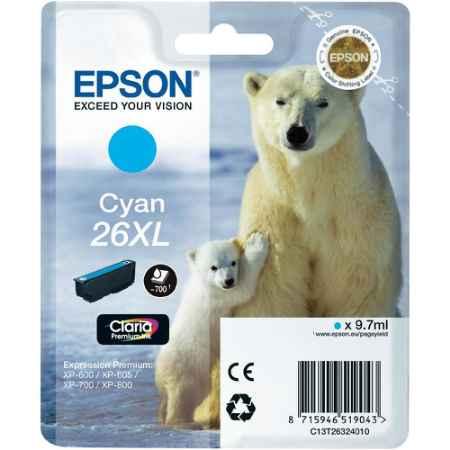 Купить Epson для Expression Premium XP-600/605/700/800 C13T26324010 голубого цвета 700 страниц