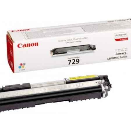 Купить Canon для принтеров LBP7010C/LBP7018C 729Y желтого цвета 1000 страниц