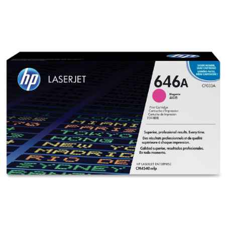 Купить HP для многофункциональных устройств Color LaserJet CM4540 MFP 646A пурпурного цвета 12500 страниц