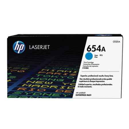 Купить HP для LaserJet Enterprise Color M651n/M651dn/M651xh/M680dn/M680f 654A голубого цвета 15000 страниц