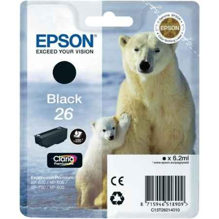 Купить Epson для Expression Premium XP-600/605/700/800 C13T26014010 черного цвета 220 страниц