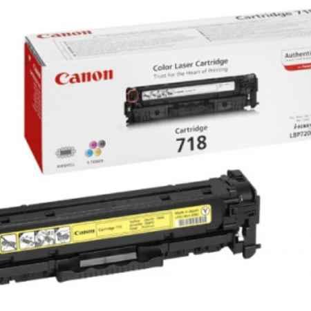 Купить Canon для принтеров LBP7200, MF8330/8350 718Y желтого цвета 2900 страниц