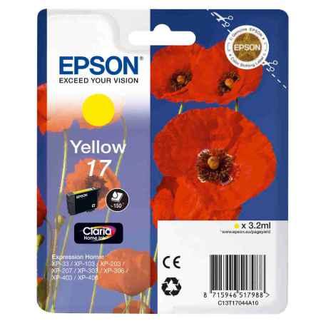 Купить Epson для Epson Expression Home XP-33 / 103 / 203 / 207 / 303 / 306 / 403 / 406 C13T17044A10 желтого цвета 150 страниц