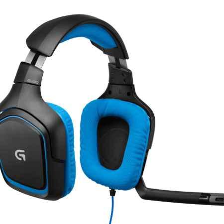 Купить Logitech G430 синего/черного цвета