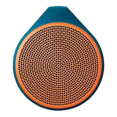 Купить Logitech X100 Mobile Wireless Speaker оранжевый/ синий