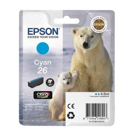 Купить Epson ДЛЯ EXPRESSION XP-600/605/700/800 C13T26124010 голубого цвета 300 страниц