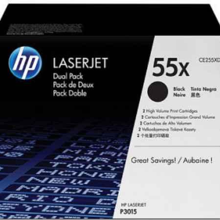 Купить HP для принтеров LaserJet P3015d/P3015dn/P3015x 55x Dual Pack черного цвета 7000 страниц