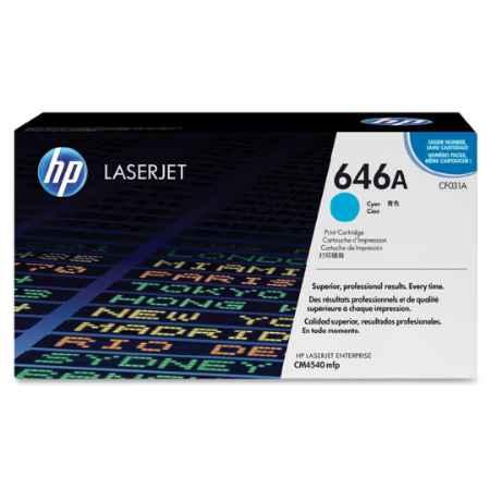 Купить HP для многофункциональных устройств Color LaserJet CM4540 MFP 646A голубого цвета 12500 страниц