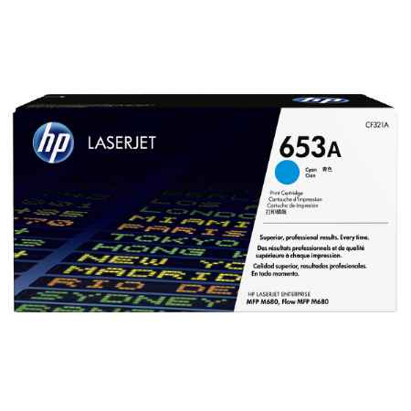 Купить HP для LaserJet Enterprise Color MFP M680dn/M651n 653A голубого цвета 16500 страниц