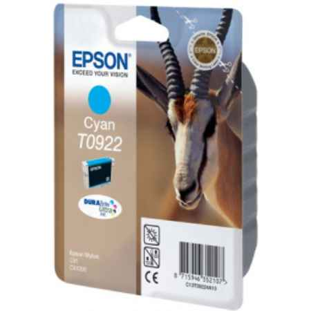 Купить Epson для принтеров Stylus C91/CX4300 T0922 голубого цвета 485 страниц