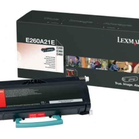 Купить Lexmark E260A21E черного цвета 3500 страниц