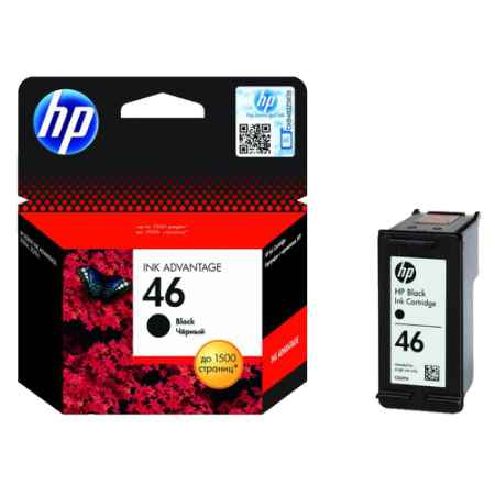 Купить HP для многофункциональных устройств DeskJet Ink Advantage 2520hc 46 черного цвета 1500 страниц