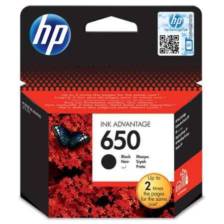 Купить HP для принтеров Deskjet Ink Advantage 2515 650 черного цвета 360 страниц