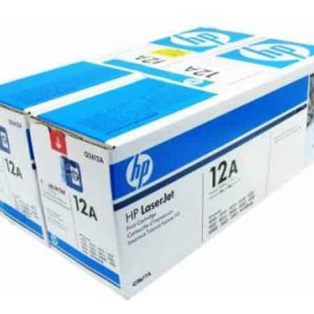 Купить HP для принтеров LaserJet 1010/1012/1015 и многофункциональных устройств 3050/3050z/M1005/M1522n/M1319f 12A черного цвета 2000 листов