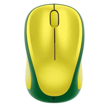 Купить Logitech Wireless Mouse M235 BRASIL желтый/зеленый