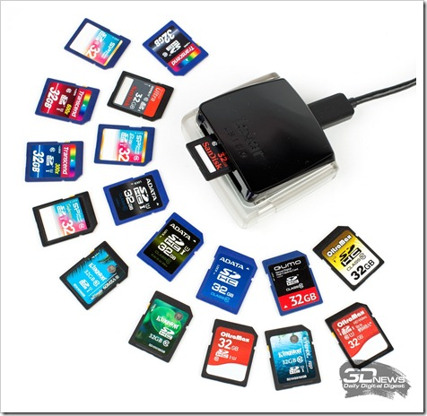 Установка карты SD