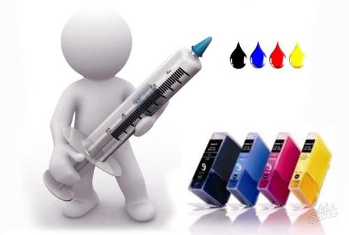 Как заправить цветной картридж