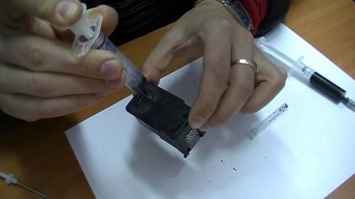 Как заправить картридж 445 для принтера Canon