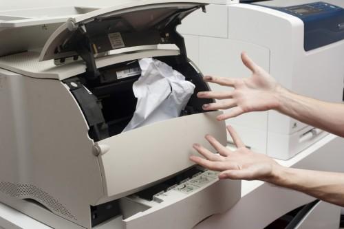 Замятие бумаги в принтере: что делать