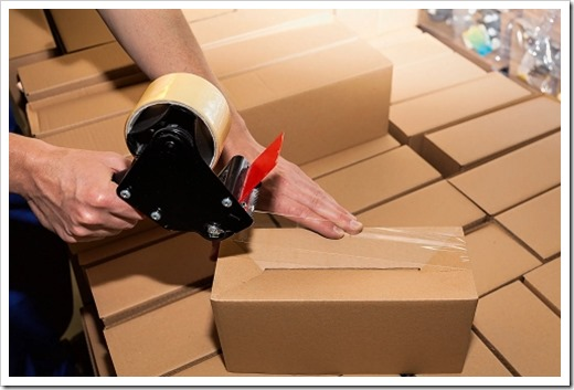 Коробки из картона, которые задействованы в упаковочном процессе