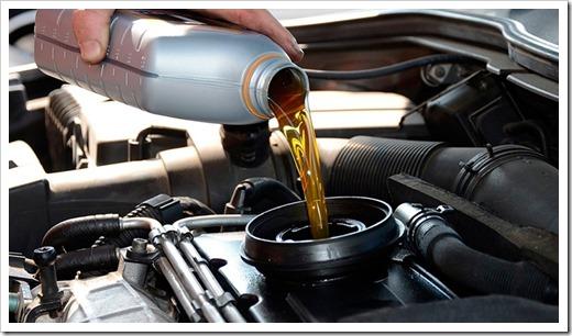 масло в двигателе