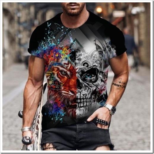 С чем можно носить мужскую футболку с черепами